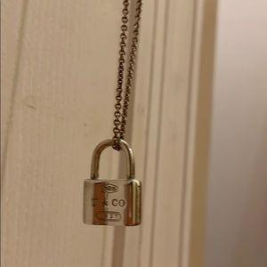 Tiffany lock charm w/chain